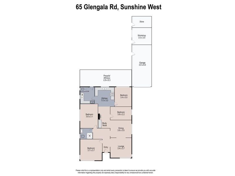 65 Glengala Road, Sunshine West, Vic 3020 - floorplan