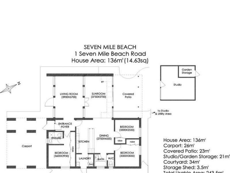 1 Seven Mile Beach Rd, Seven Mile Beach, Tas 7170 - floorplan