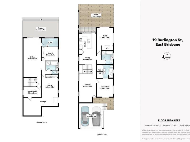 19 Burlington Street, East Brisbane, Qld 4169 - floorplan
