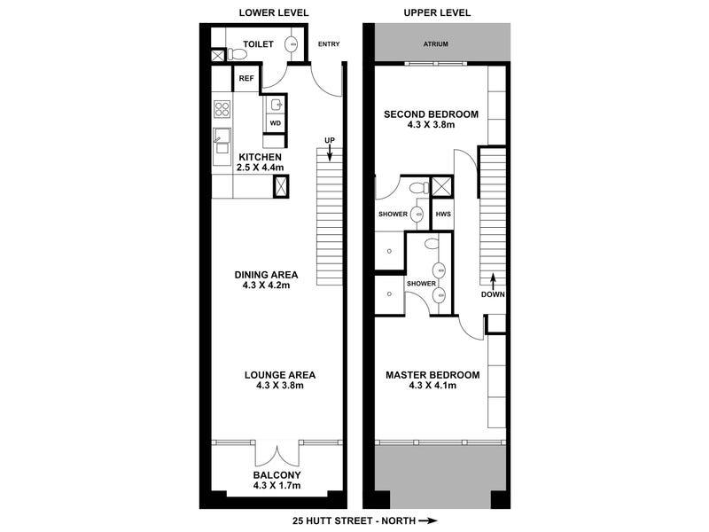 1/25 Hutt Street, Adelaide, SA 5000 - floorplan