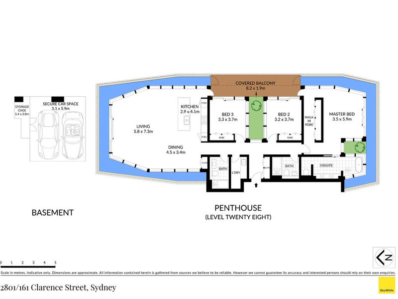 2801/161 Clarence Street, Sydney, NSW 2000 - floorplan