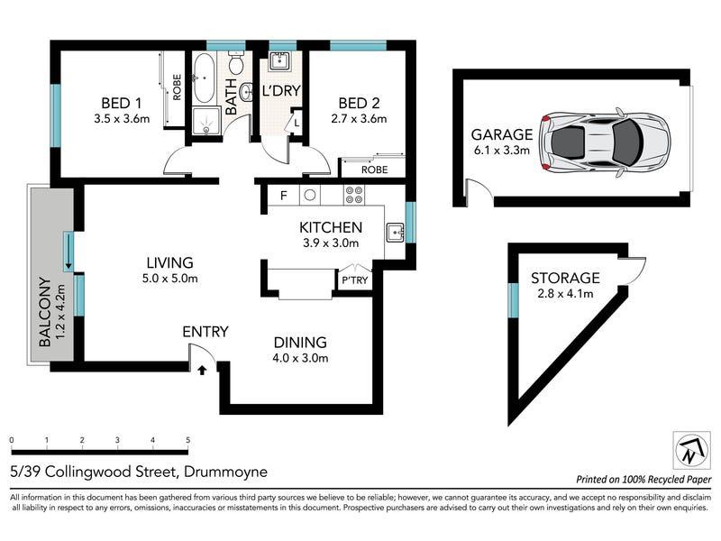 5/39-41 Collingwood Street, Drummoyne, NSW 2047 - floorplan
