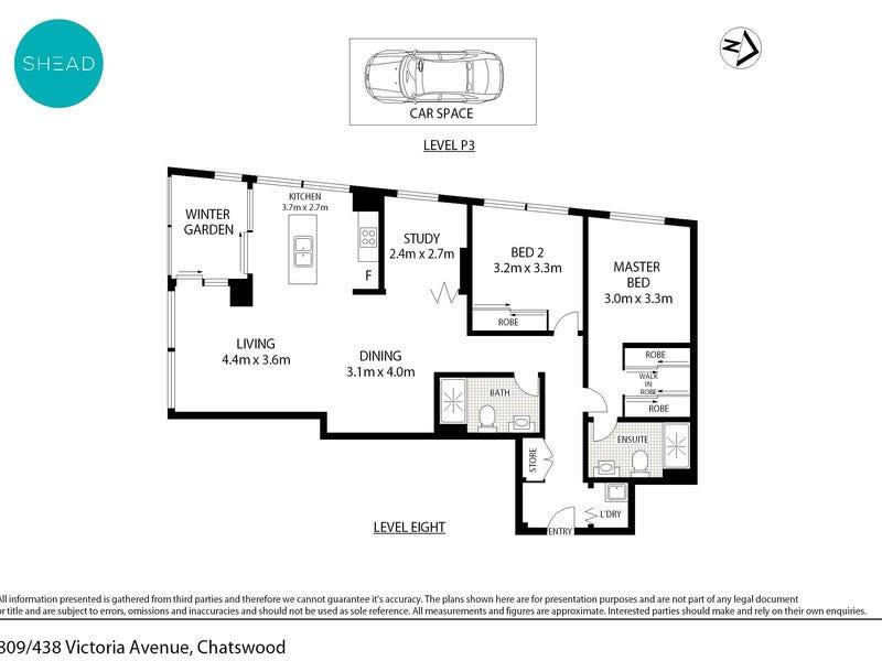809/438 Victoria Avenue, Chatswood, NSW 2067 - floorplan