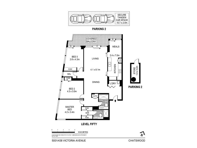 5001/438 Victoria Avenue, Chatswood, NSW 2067 - floorplan