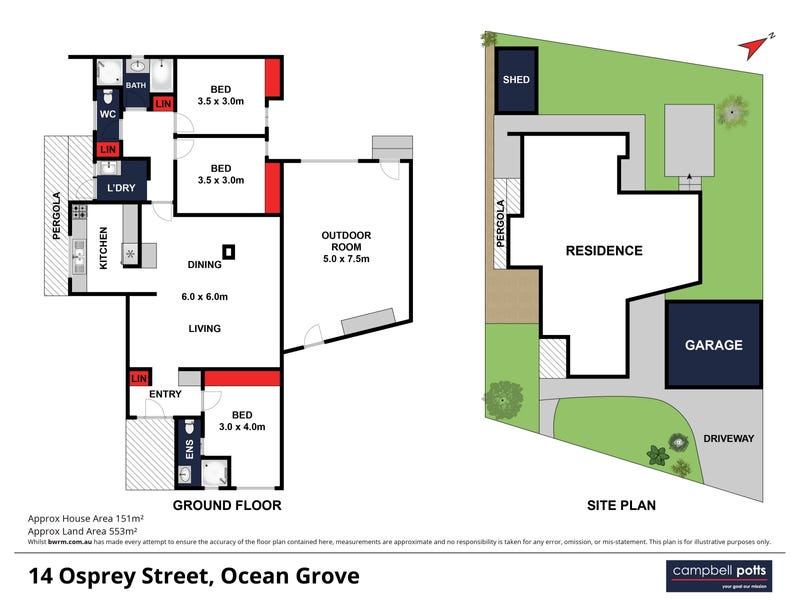 14 Osprey Close, Ocean Grove, Vic 3226 - floorplan