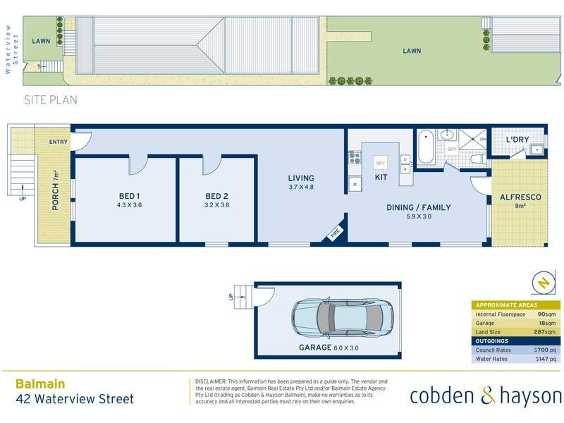 42 Waterview Street, Balmain, NSW 2041 - floorplan