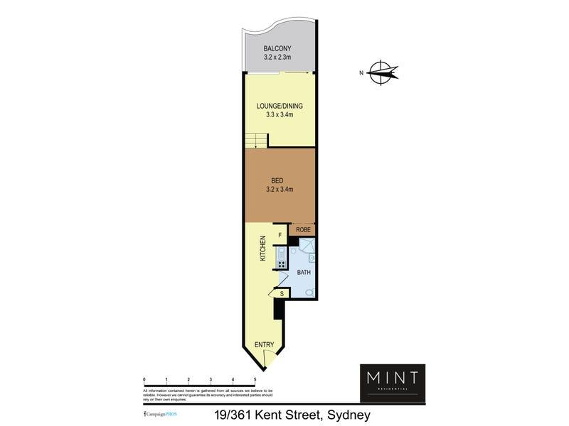 19/361 Kent Street, Sydney, NSW 2000 - floorplan