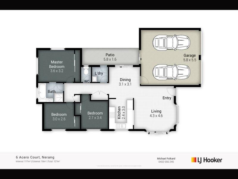 6 Acero Court, Nerang, Qld 4211 - floorplan
