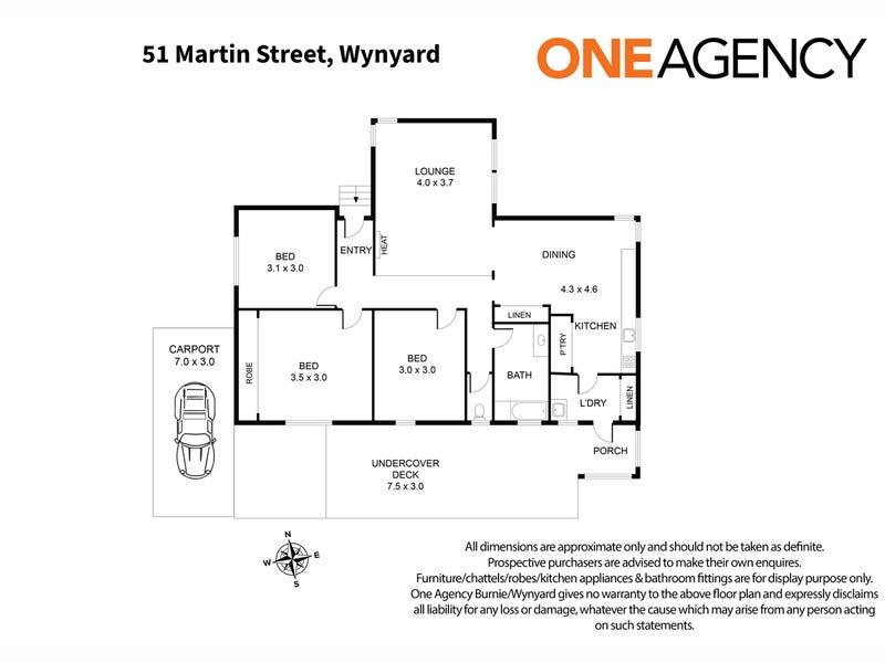 51 Martin Street, Wynyard, Tas 7325 - floorplan