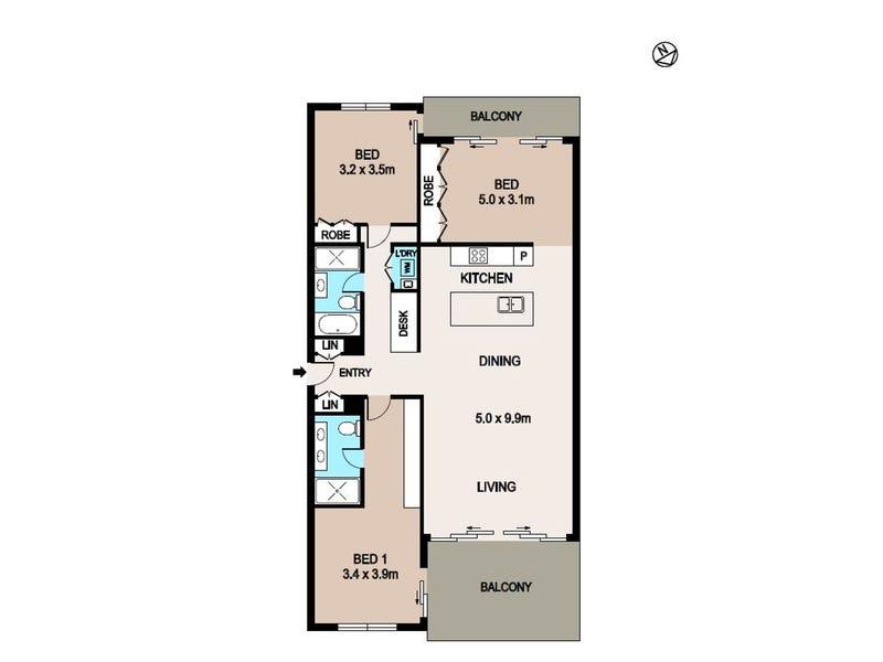 367/19B Kitchener Drive, Darwin City, NT 0800 - floorplan
