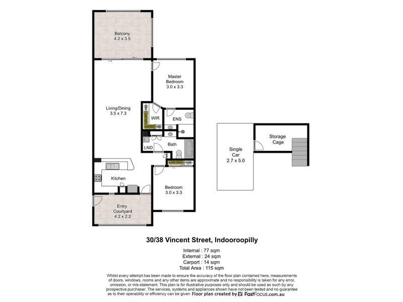 30/38 Vincent Street, Indooroopilly, Qld 4068 - floorplan