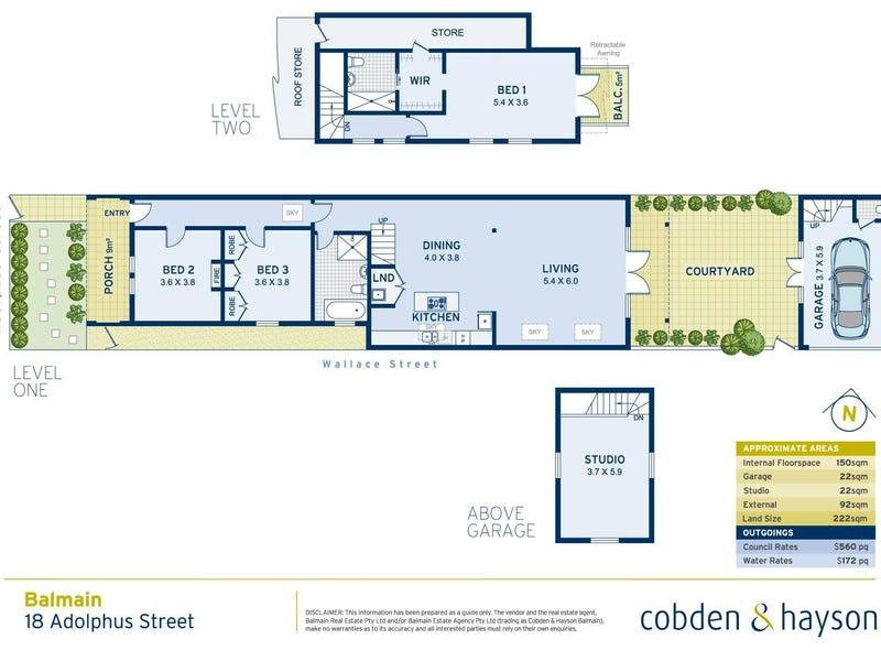 18 Adolphus Street, Balmain, NSW 2041 - floorplan