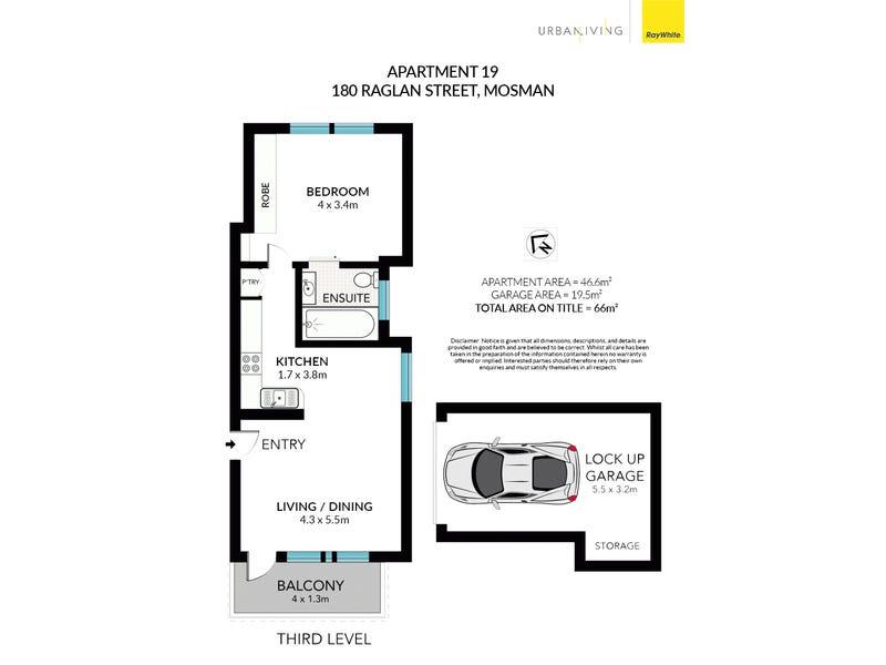 19/180 Raglan Street, Mosman, NSW 2088 - floorplan