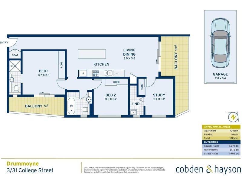 3/31  College Street, Drummoyne, NSW 2047 - floorplan