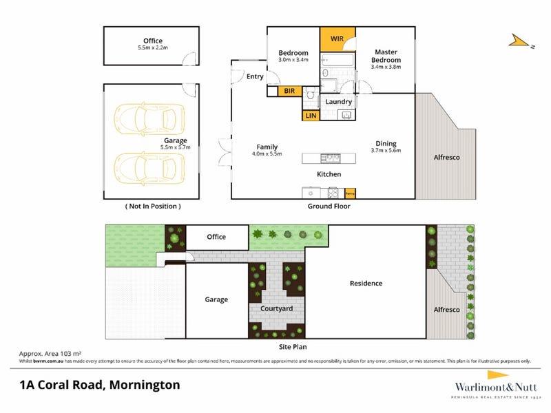 1A Coral Road, Mornington, Vic 3931 - floorplan