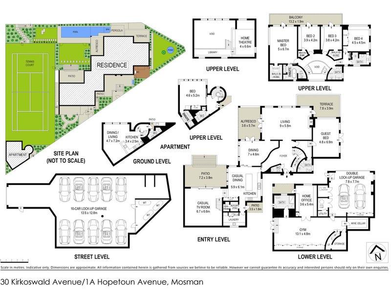 30 Kirkoswald Avenue & 1A Hopetoun Avenue, Mosman, NSW 2088 - floorplan