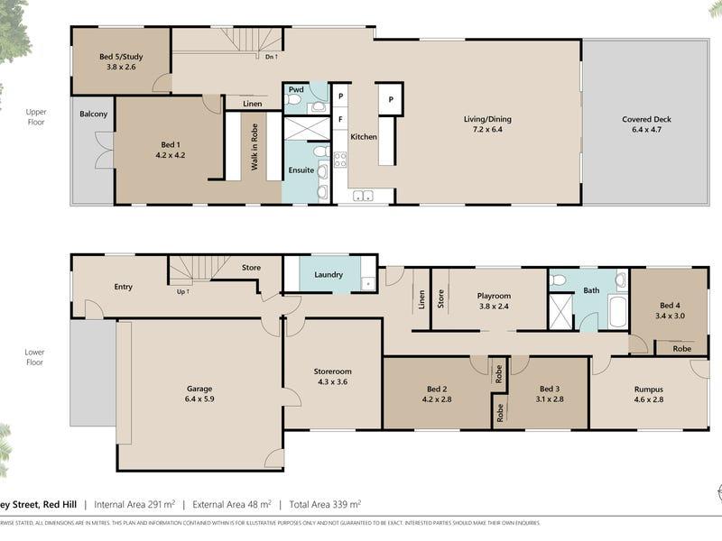 28 Surrey Street, Red Hill, Qld 4059 - floorplan