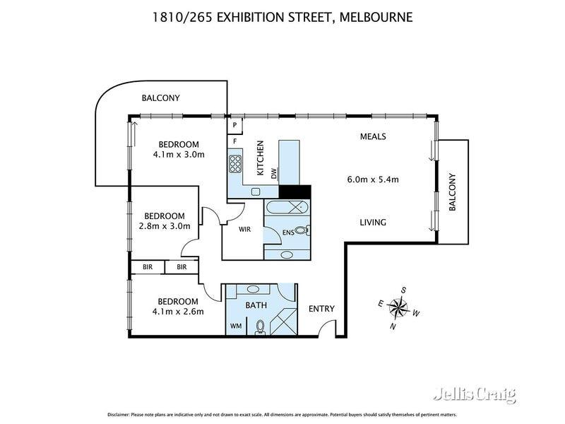 1810/265 Exhibition Street, Melbourne, Vic 3000 - floorplan
