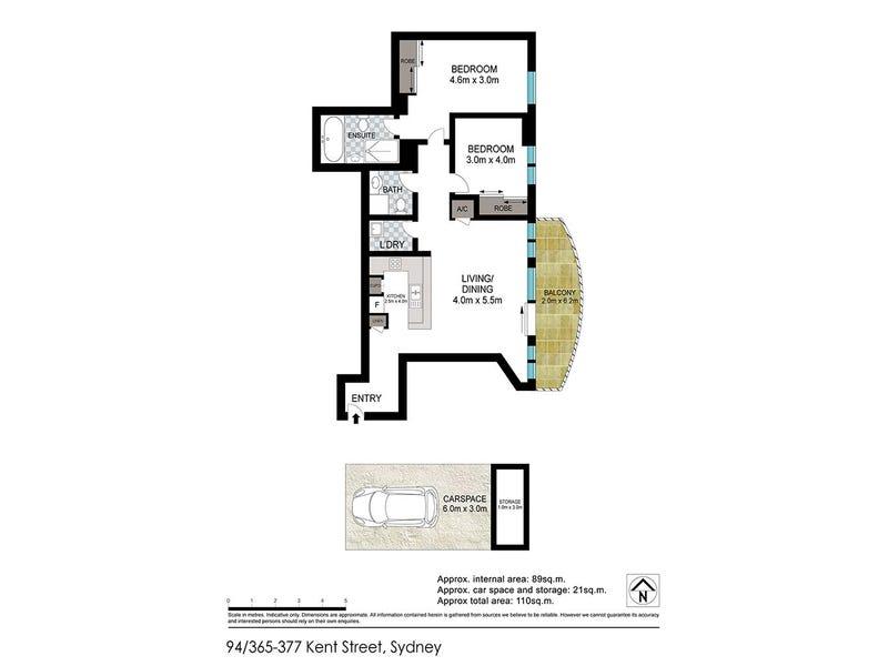 94/365 Kent Street, Sydney, NSW 2000 - floorplan