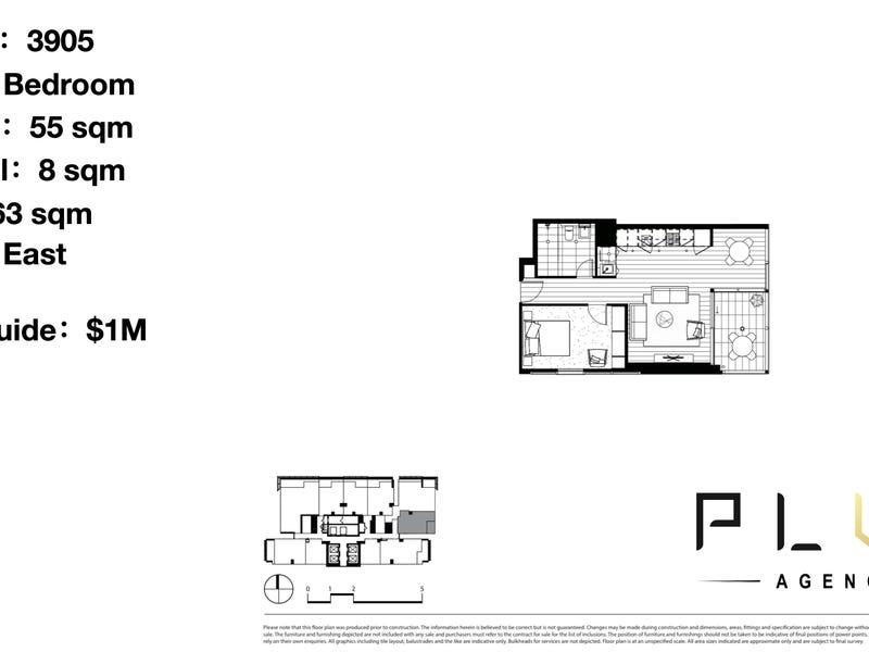 3905/115 Bathurst Street, Sydney, NSW 2000 - floorplan