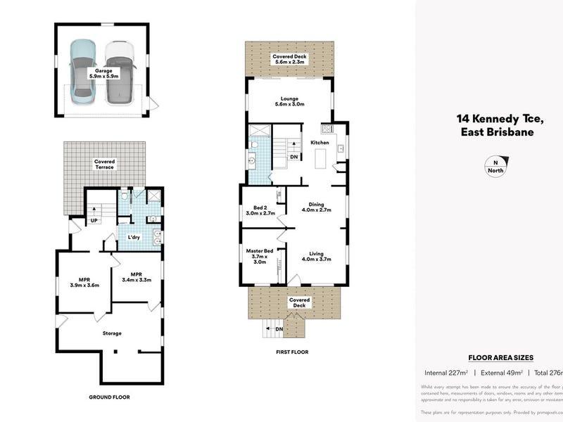 14 Kennedy Terrace, East Brisbane, Qld 4169 - floorplan