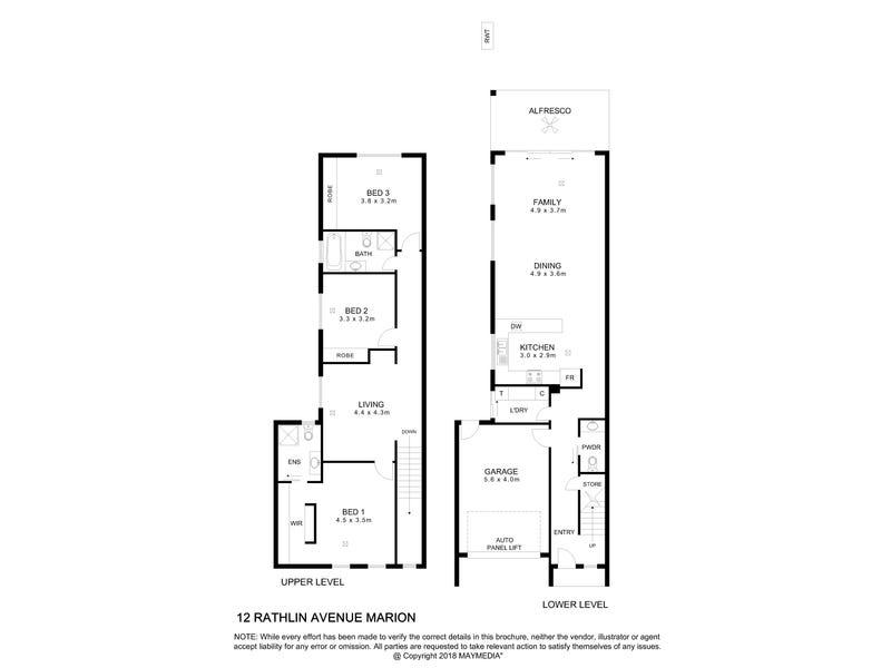 12 Rathlin Avenue, Marion, SA 5043 - floorplan