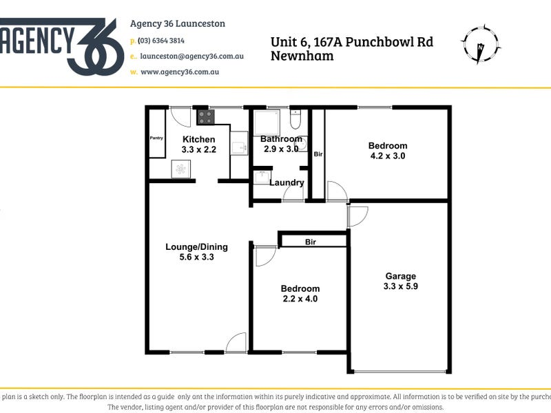 6/167 Punchbowl Road, Newstead, Tas 7250 - floorplan