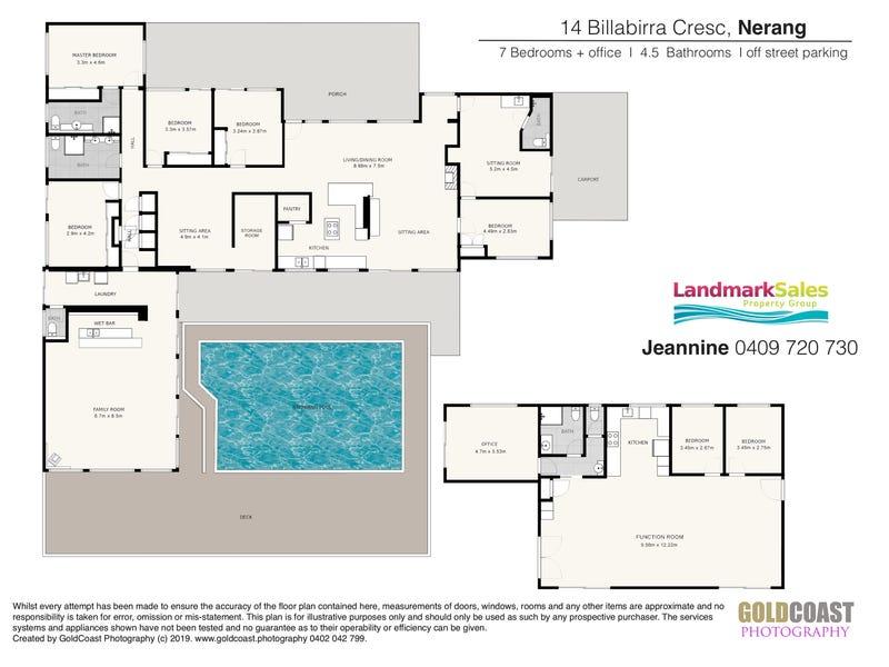 14 Billabirra Drive, Nerang, Qld 4211 - floorplan