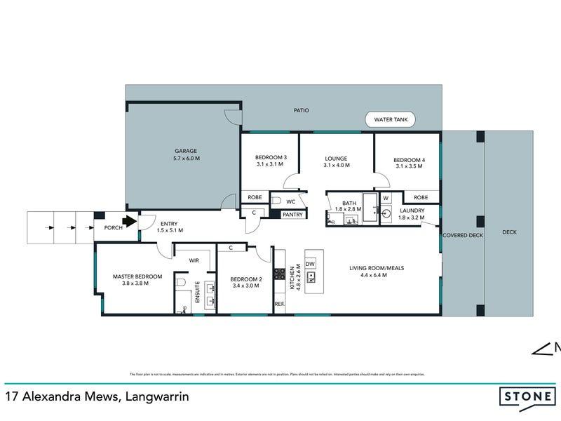 17 Alexandra Mews, Langwarrin, Vic 3910 - floorplan