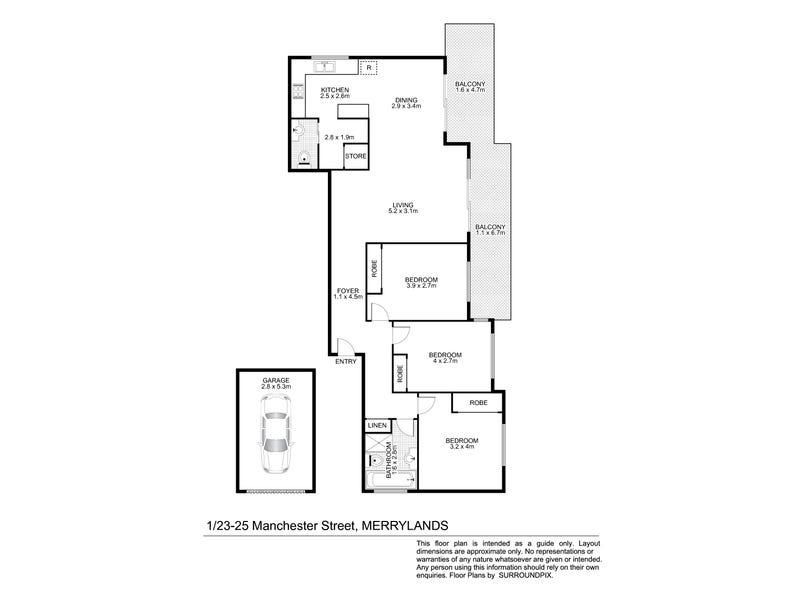 1/23-25 Manchester Street, Merrylands, NSW 2160 - floorplan