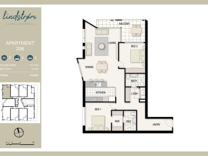 106/9 Union Street, Wickham, NSW 2293 - floorplan