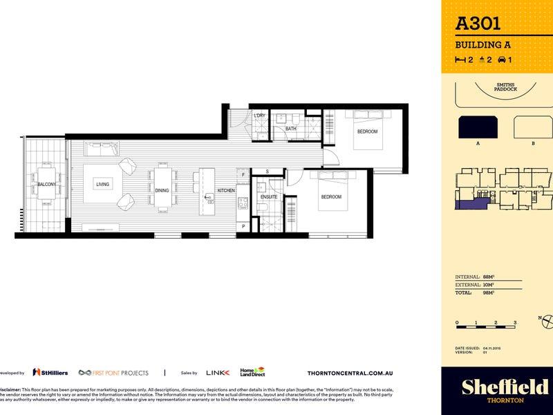 301/8 Aviators Way, Penrith, NSW 2750 - floorplan