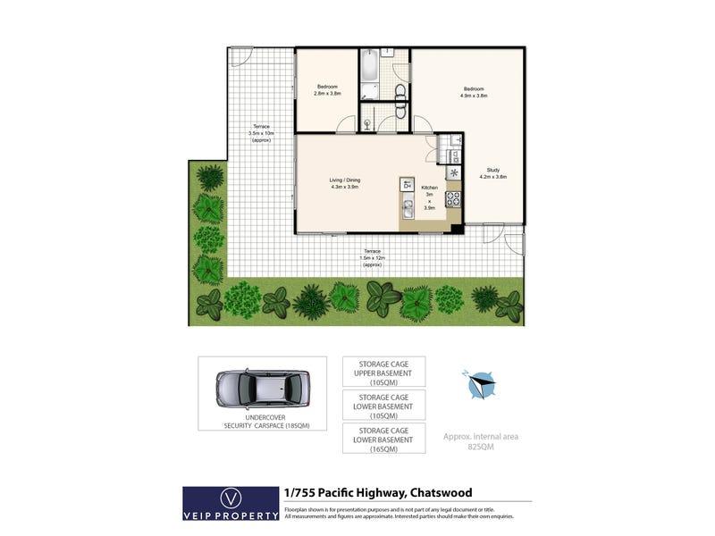 1/755 Pacific Highway, Chatswood, NSW 2067 - floorplan