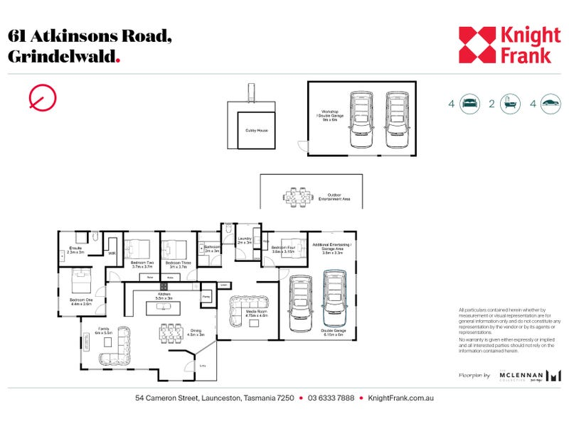 61 Atkinsons Road, Grindelwald, Tas 7277 - floorplan