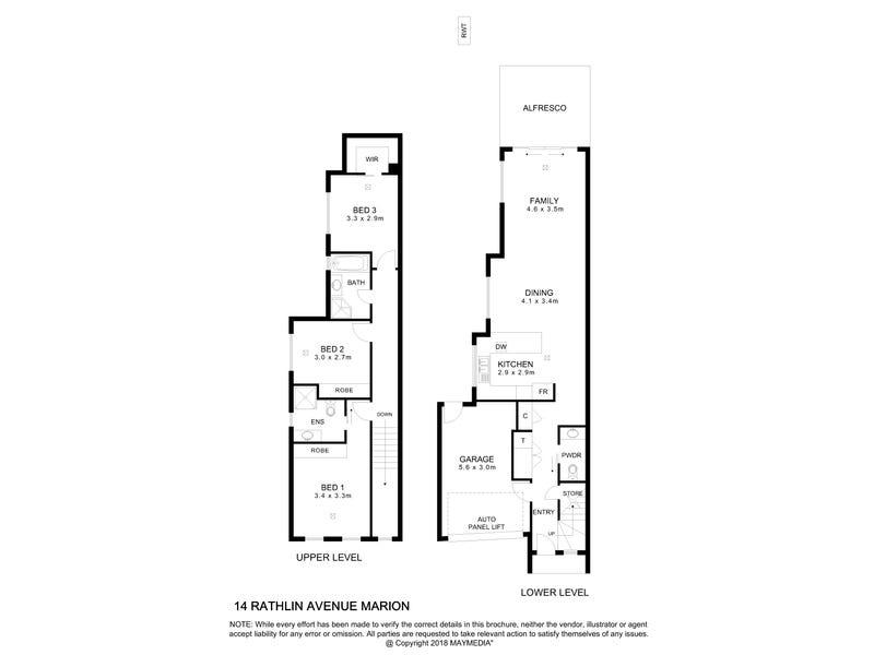 14 Rathlin Avenue, Marion, SA 5043 - floorplan