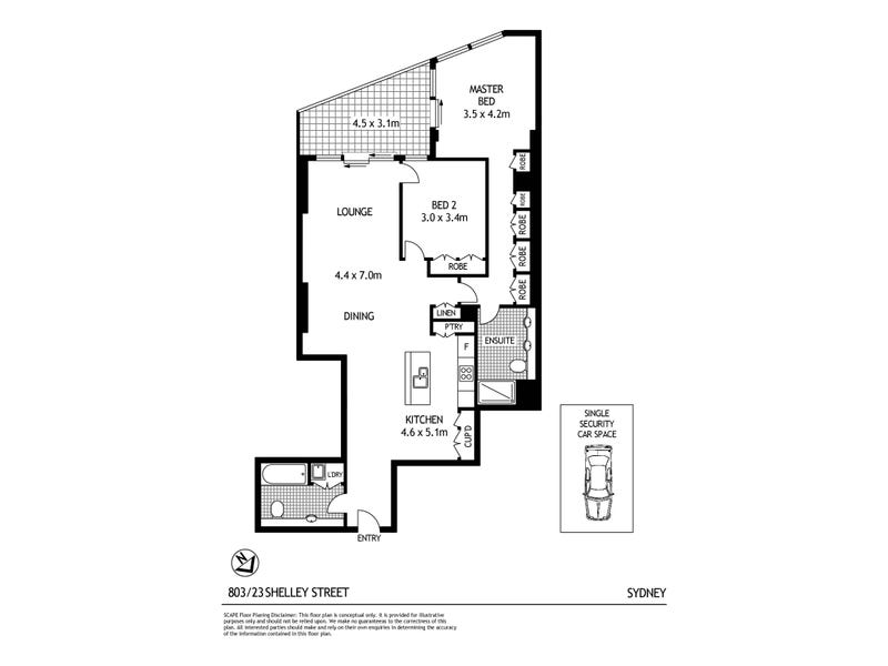 803/23 Shelley Street, Sydney, NSW 2000 - floorplan