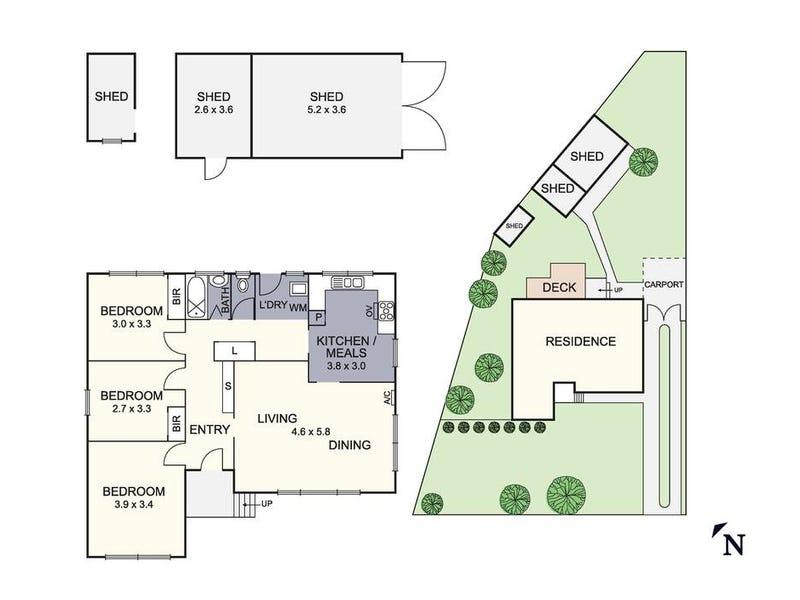 3 Rosemary Crescent, Frankston North, Vic 3200 - floorplan