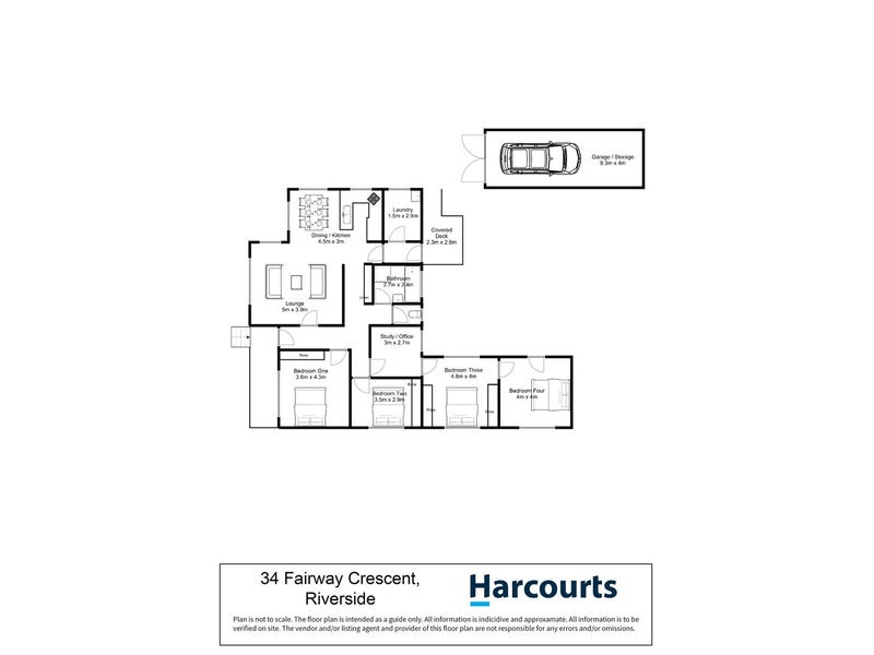34 Fairway Crescent, Riverside, Tas 7250 - floorplan