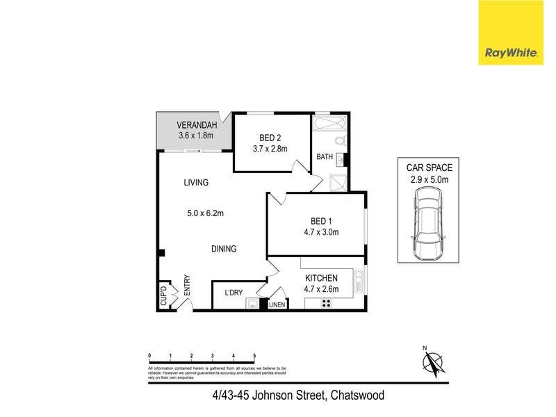 4/43-45 Johnson Street, Chatswood, NSW 2067 - floorplan