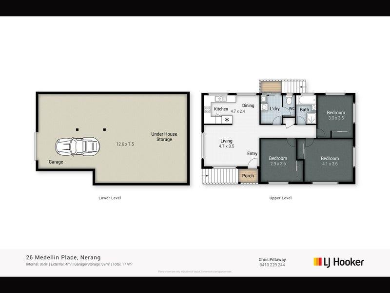 26 Medellin Place, Nerang, Qld 4211 - floorplan