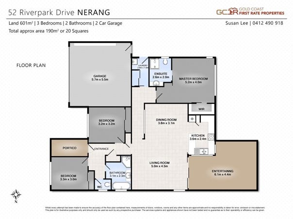 52 Riverpark Drive, Nerang, Qld 4211 - floorplan
