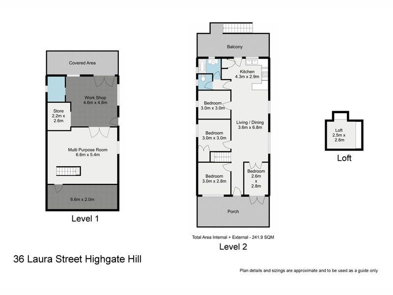 36 Laura Street, Highgate Hill, Qld 4101 - floorplan