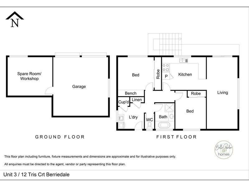 3/12 Tris Court, Berriedale, Tas 7011 - floorplan