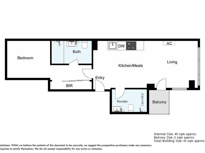 3406/568 Collins Street, Melbourne, Vic 3000 - floorplan