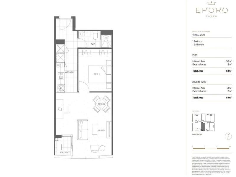 2708/279 La Trobe Street, Melbourne, Vic 3000 - floorplan