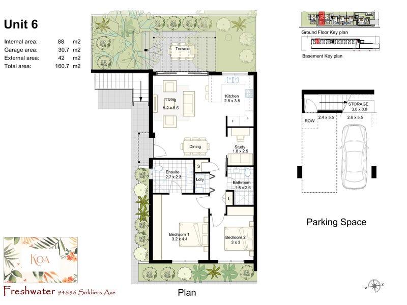 6a/94-96 Soldiers Avenue, Freshwater, NSW 2096 - floorplan