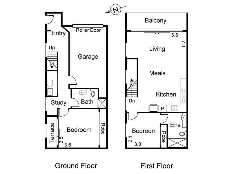 1/20 Albert Street, Brunswick East, Vic 3057 - floorplan