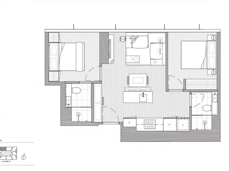 4510/462 Elizabeth street, Melbourne, Vic 3000 - floorplan
