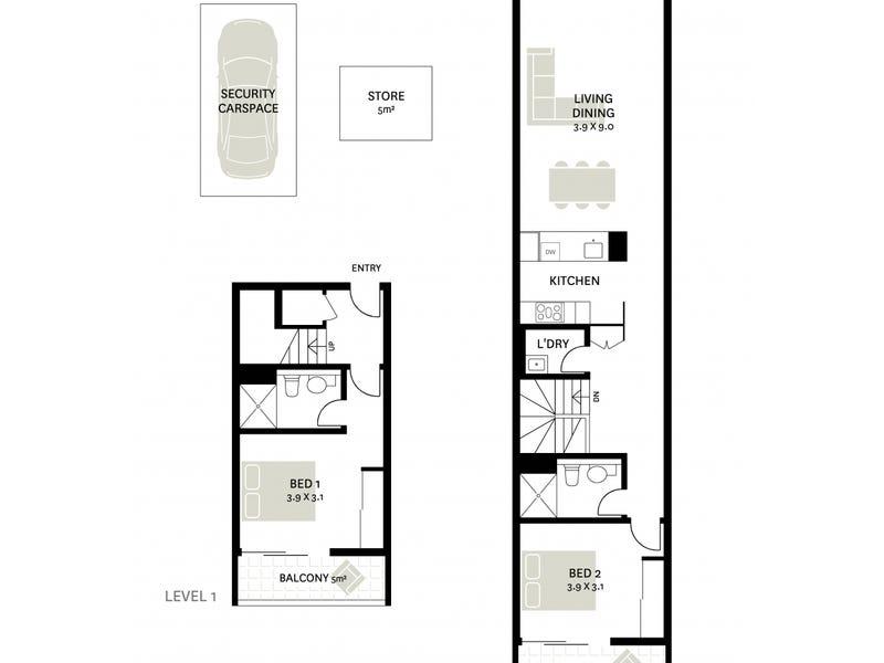 323/14 Griffin Place, Glebe, NSW 2037 - floorplan