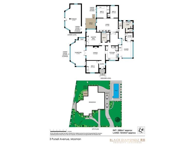 3 Pursell Ave, Mosman, NSW 2088 - floorplan